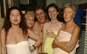 Ever take a peek in an all womanlike mature sauna