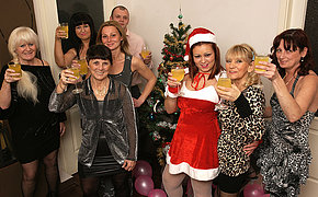 Old increased by young Christmas party goes aside