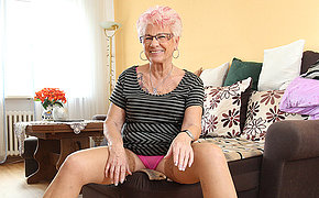 Mature Gerdi from Germany is two piping hot housewife