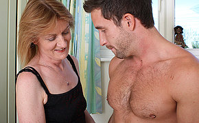 Horny mature mama fucking the dude next door
