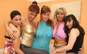 Five old together with young lesbians party permanent