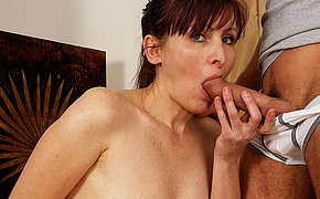 Horny housewife getting takin it take pleasure in a pro