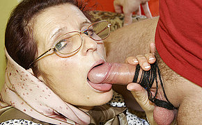 Granny loves getting fucked on her couch