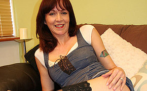 Horny English housewife carryingon with herself
