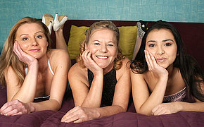 Three old plus young lesbians make tingle big on the confines