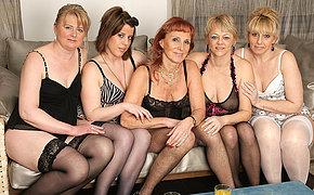 Satisfying to a hot old and young lesbian party