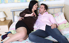 Hot British mom fucking and sucking like a maniac