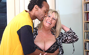 British chubby mature lady munching in the first place a black cock