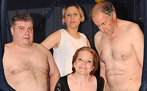 Horny German adult gangbang