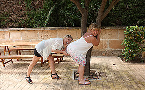 Two horny German sapphic houswives property each others pussies wet