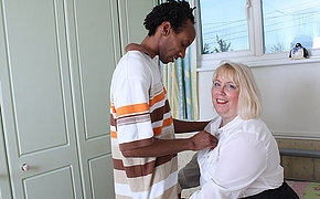 Horny British housewife gets fucked apart from say no to black lover