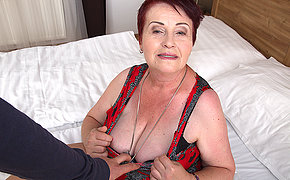 Chubby hairy mature lady getting fucked close by POV style
