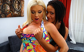 Hot MILF doing a wettish teeny lesbian