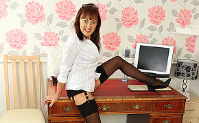 Hairy British of age lady obtaining naughty