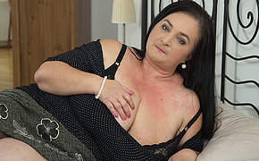 Horny housewife shows huge tits greatest extent sucking and fucking