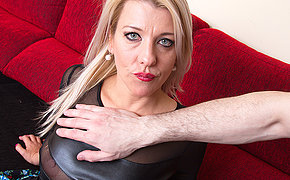 Naughty mom sucking with an increment of fucking in POV style