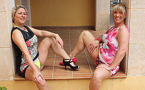 Two German housewives getting really extraordinary and naughty