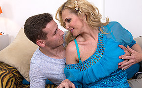 Hot MILF fucking and sucking her younger darling