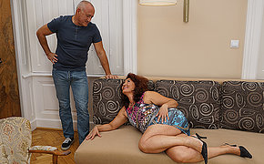 Horny housewife carrying out her lover