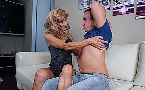 Horny mature housewife fucks her toyboy