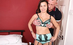 Sultry British Mom fucking and sucking her ass off