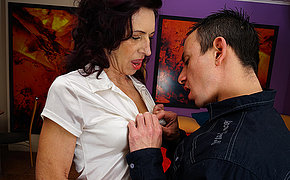 Sexy skinny female parent is fucked hard by say no to toyboy