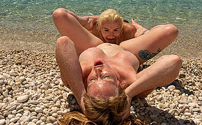 Horny British Milf and her young girlfriend enjoy each others pussies superior to before the run aground